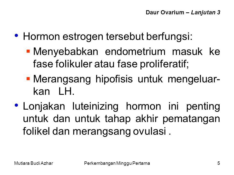 Daur Ovarium – Lanjutan 3