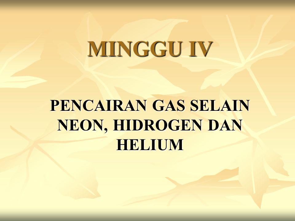 PENCAIRAN GAS SELAIN NEON, HIDROGEN DAN HELIUM