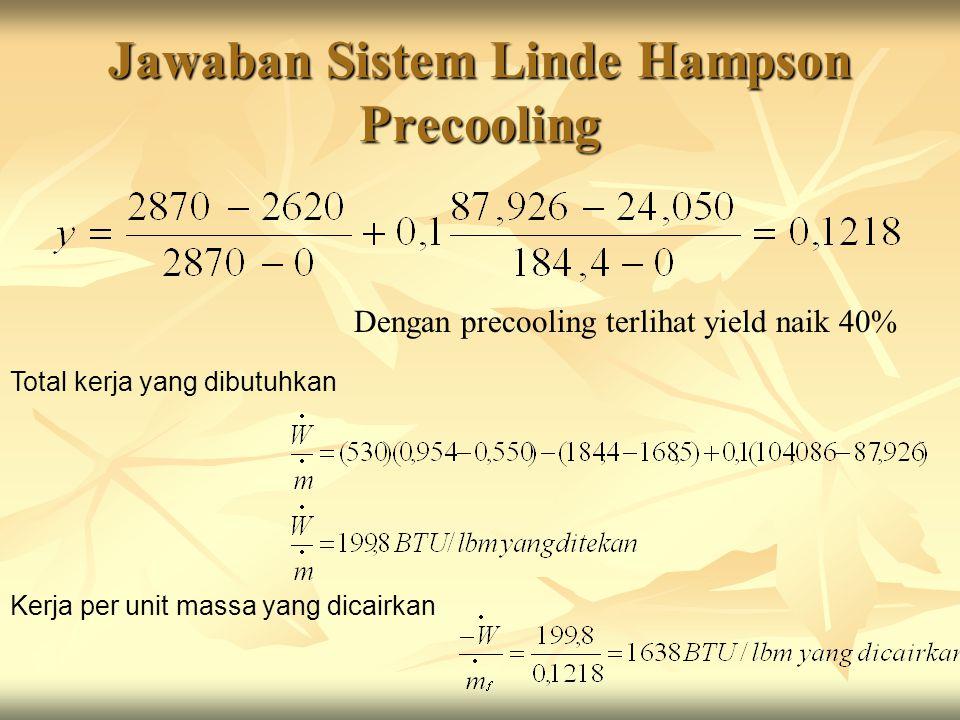 Jawaban Sistem Linde Hampson Precooling