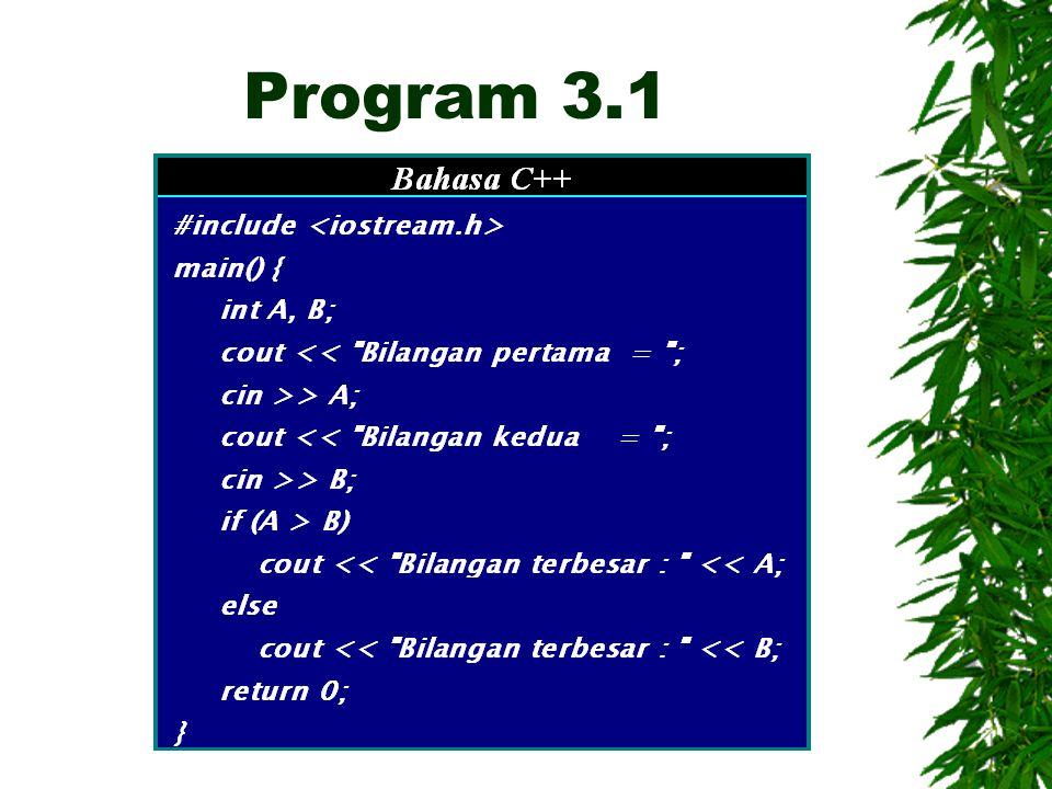 Program 3.1