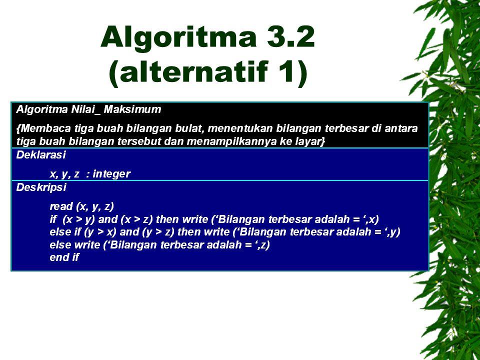 Algoritma 3.2 (alternatif 1)