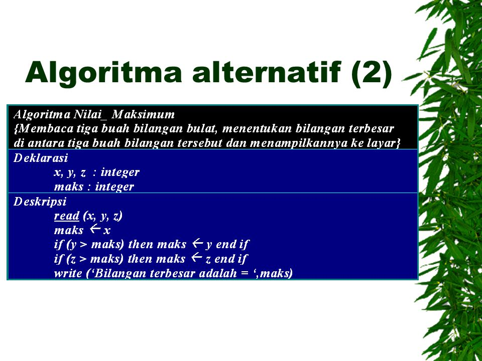 Algoritma alternatif (2)