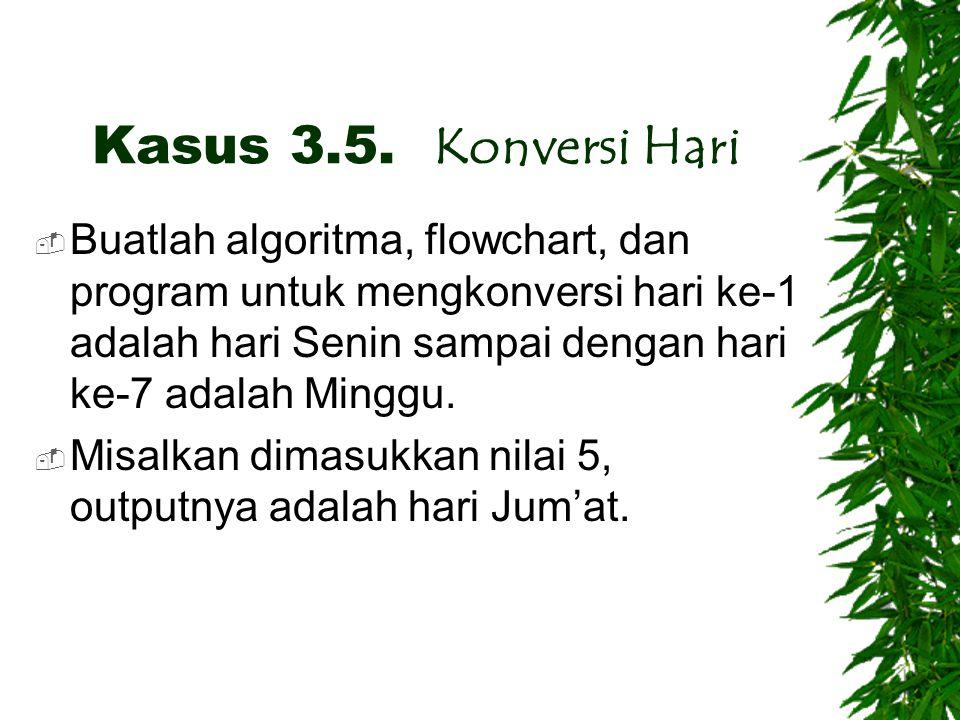 Kasus 3.5. Konversi Hari