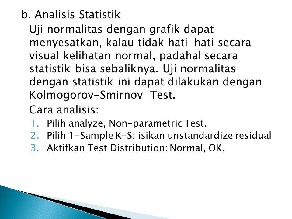 b. Analisis Statistik