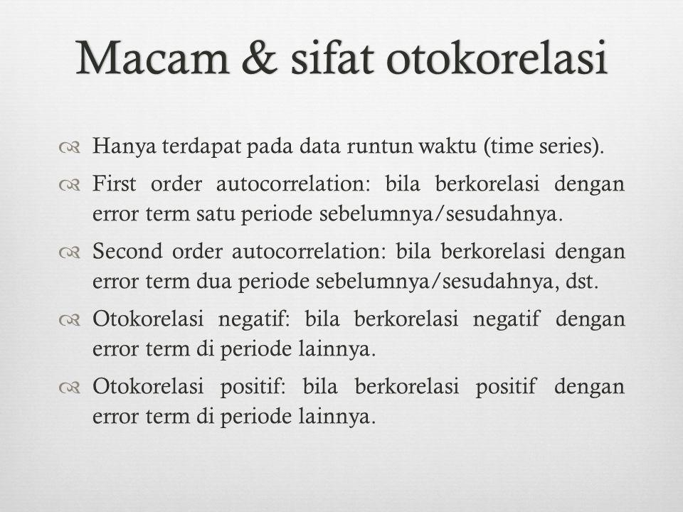 Macam & sifat otokorelasi