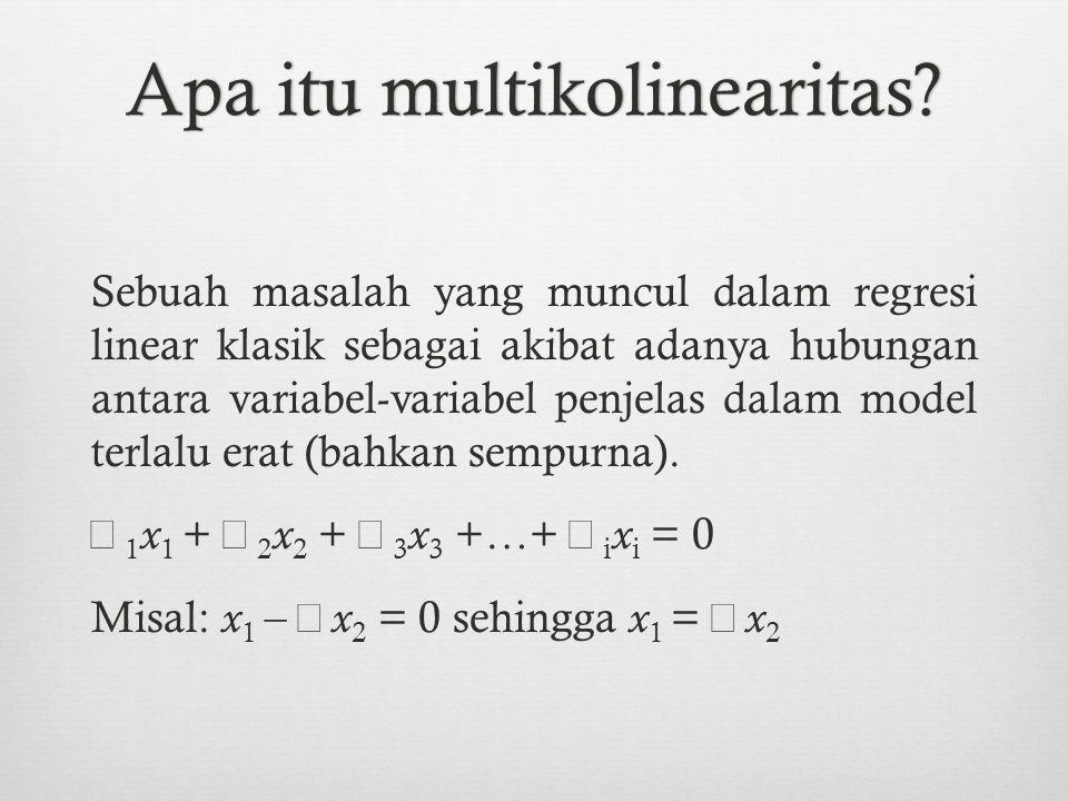 Apa itu multikolinearitas