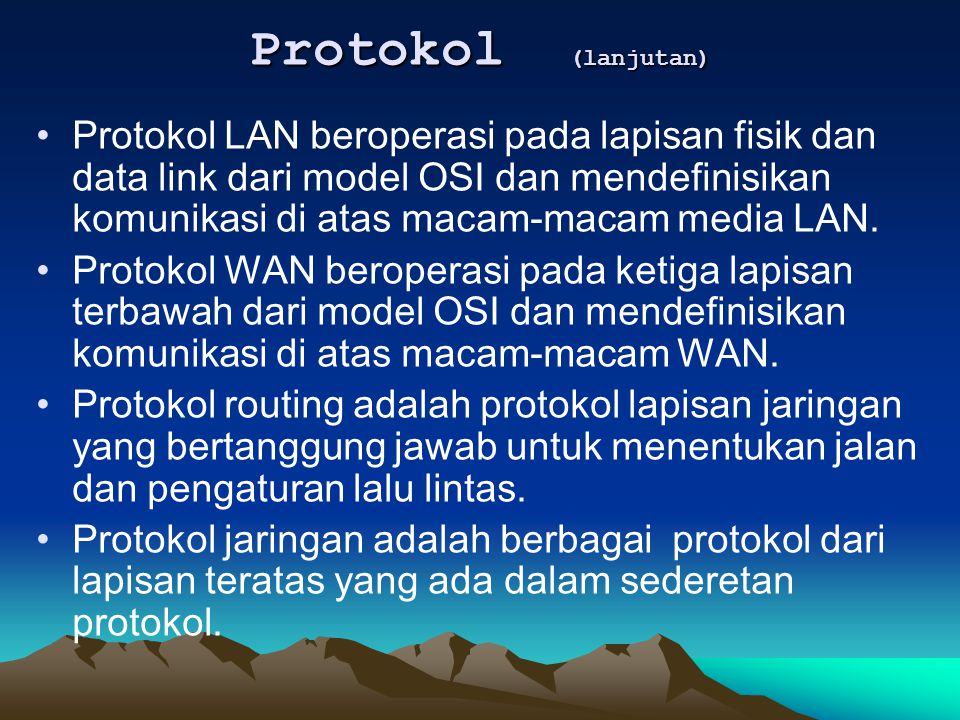 Protokol (lanjutan)