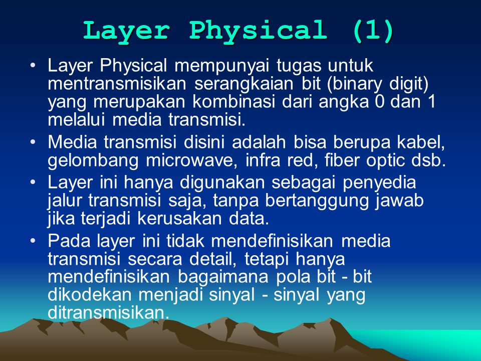 Layer Physical (1)