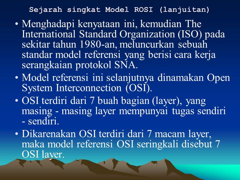 Sejarah singkat Model ROSI (lanjuitan)