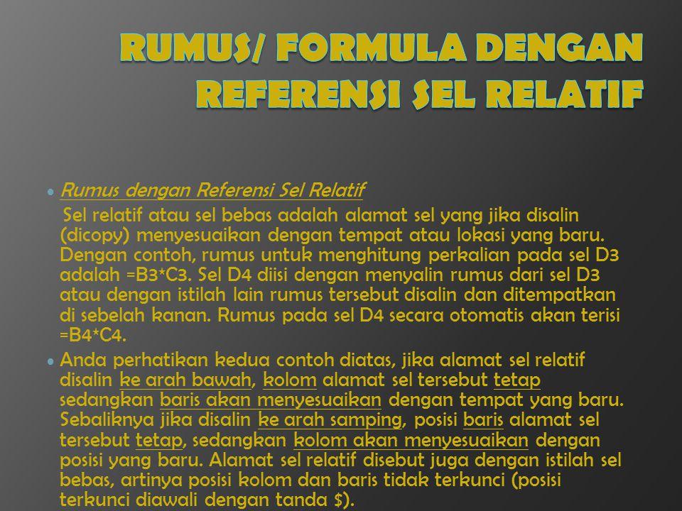 Rumus/ Formula dengan Referensi Sel Relatif