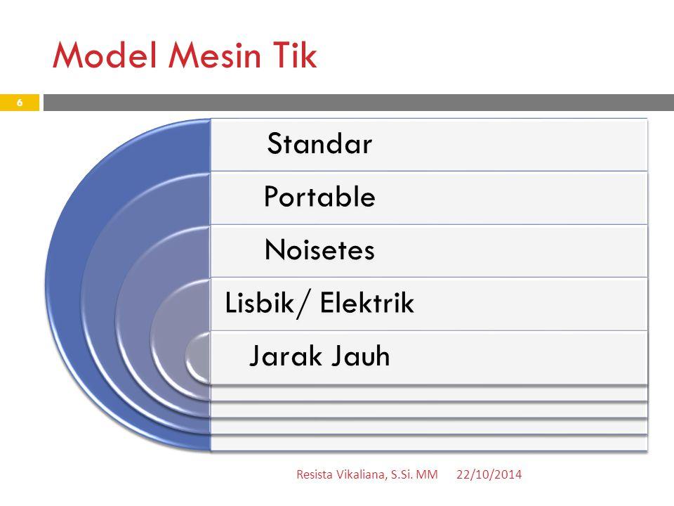Model Mesin Tik Standar Portable Noisetes Lisbik/ Elektrik Jarak Jauh