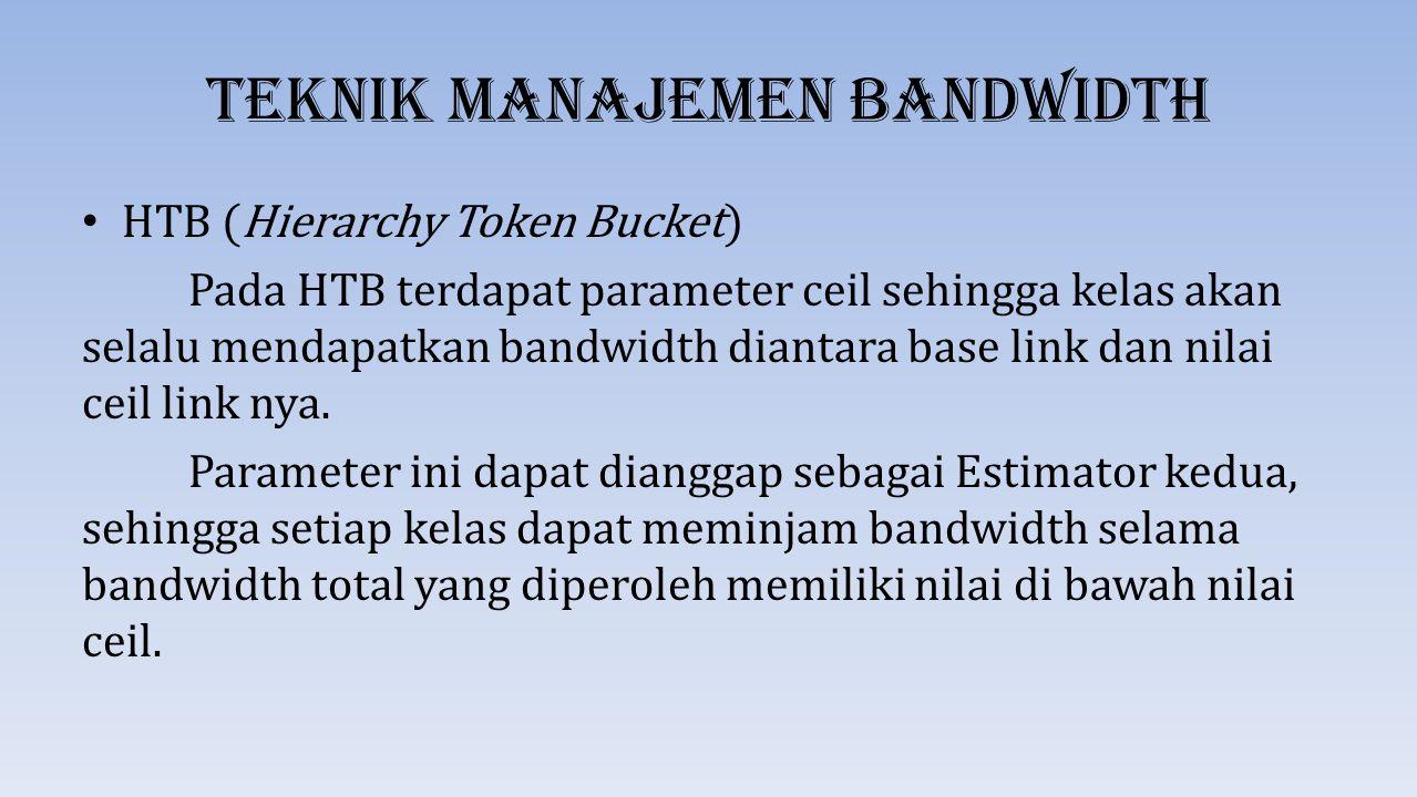 Teknik Manajemen Bandwidth