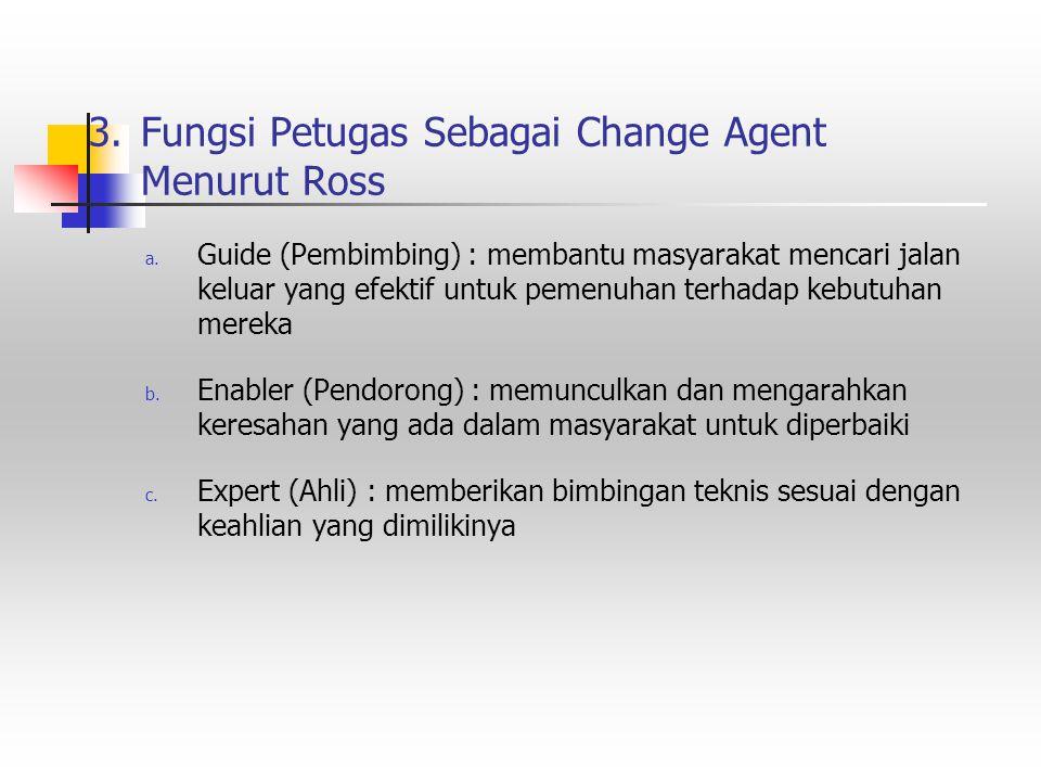 3. Fungsi Petugas Sebagai Change Agent Menurut Ross