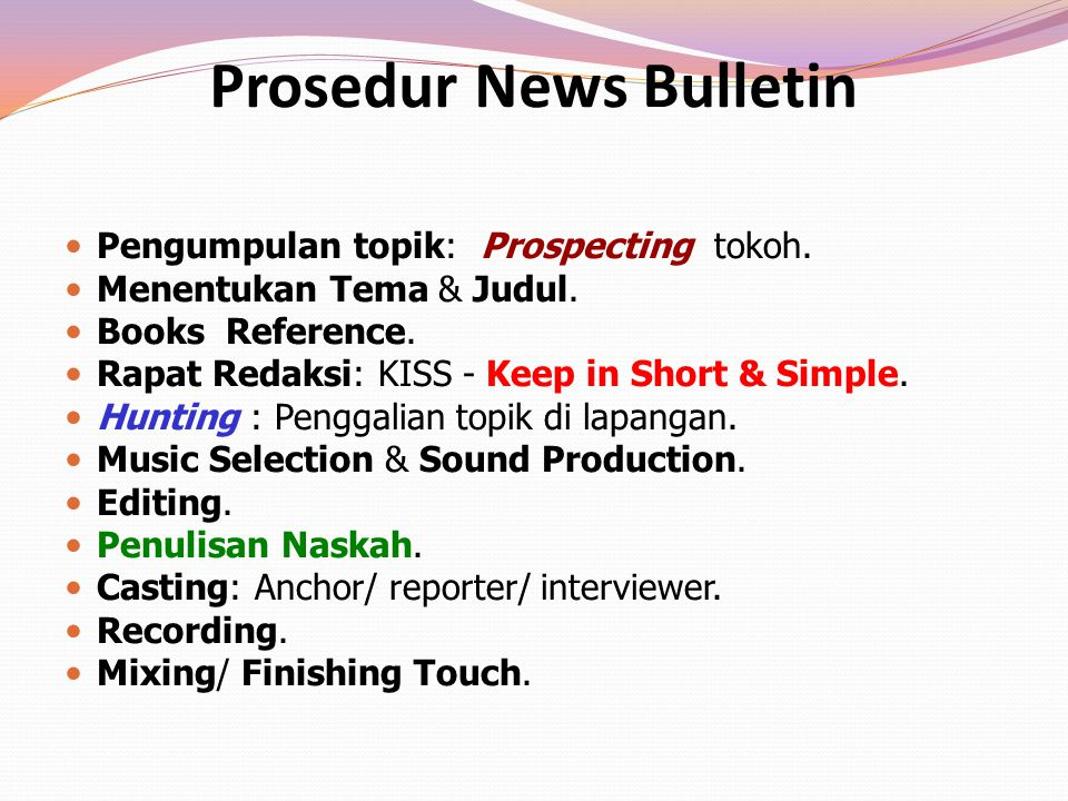 Prosedur News Bulletin