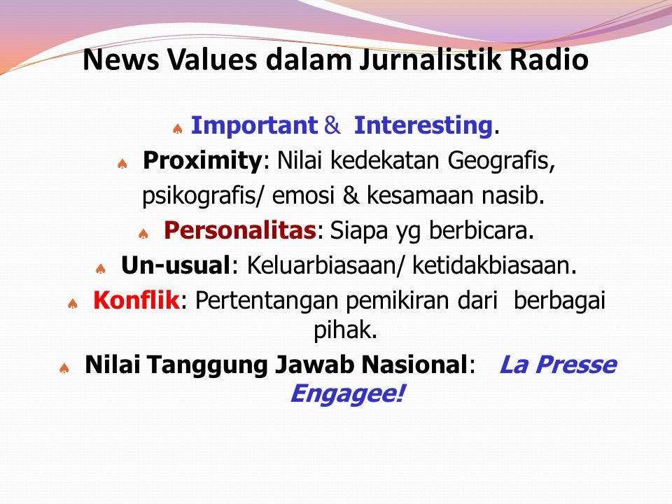 News Values dalam Jurnalistik Radio