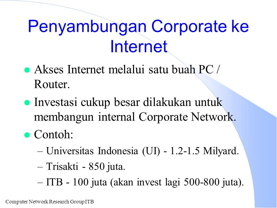 Penyambungan Corporate ke Internet