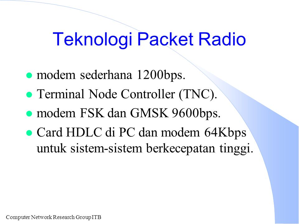 Teknologi Packet Radio
