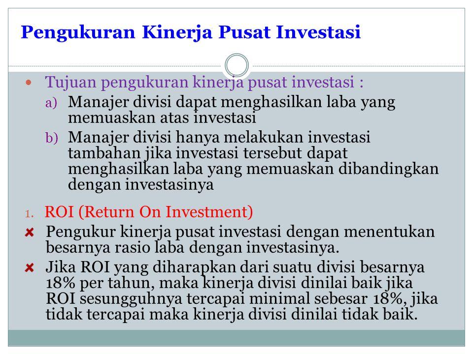 Pengukuran Kinerja Pusat Investasi