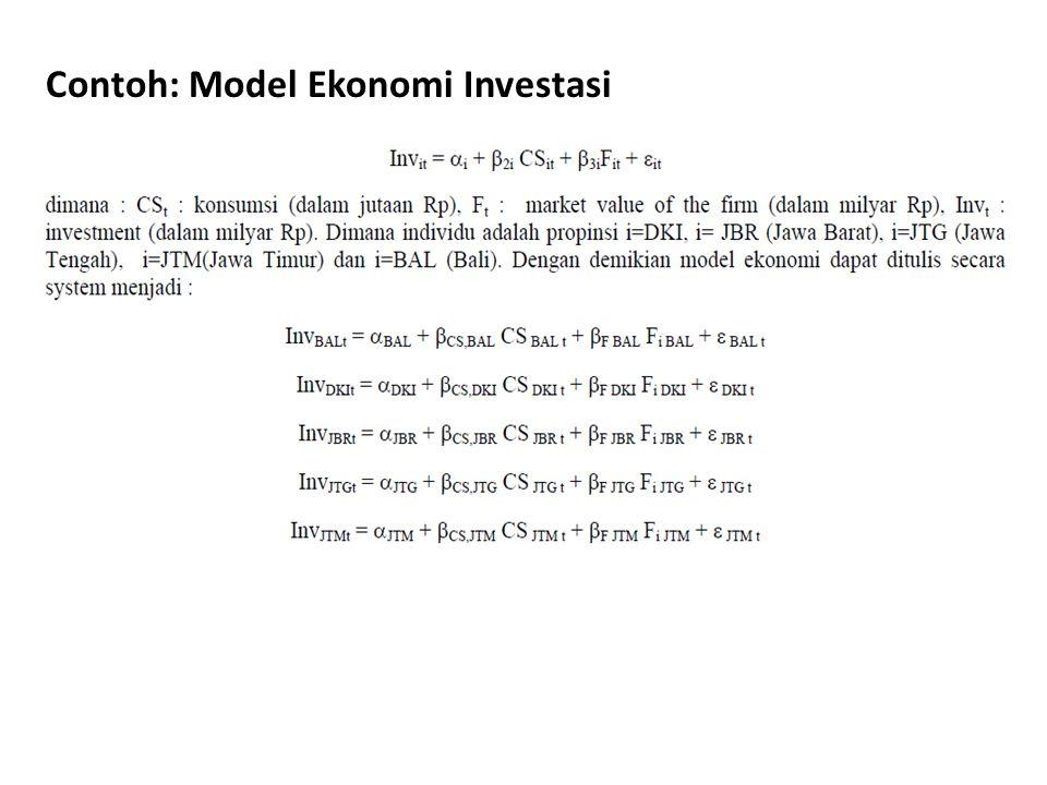 Contoh: Model Ekonomi Investasi