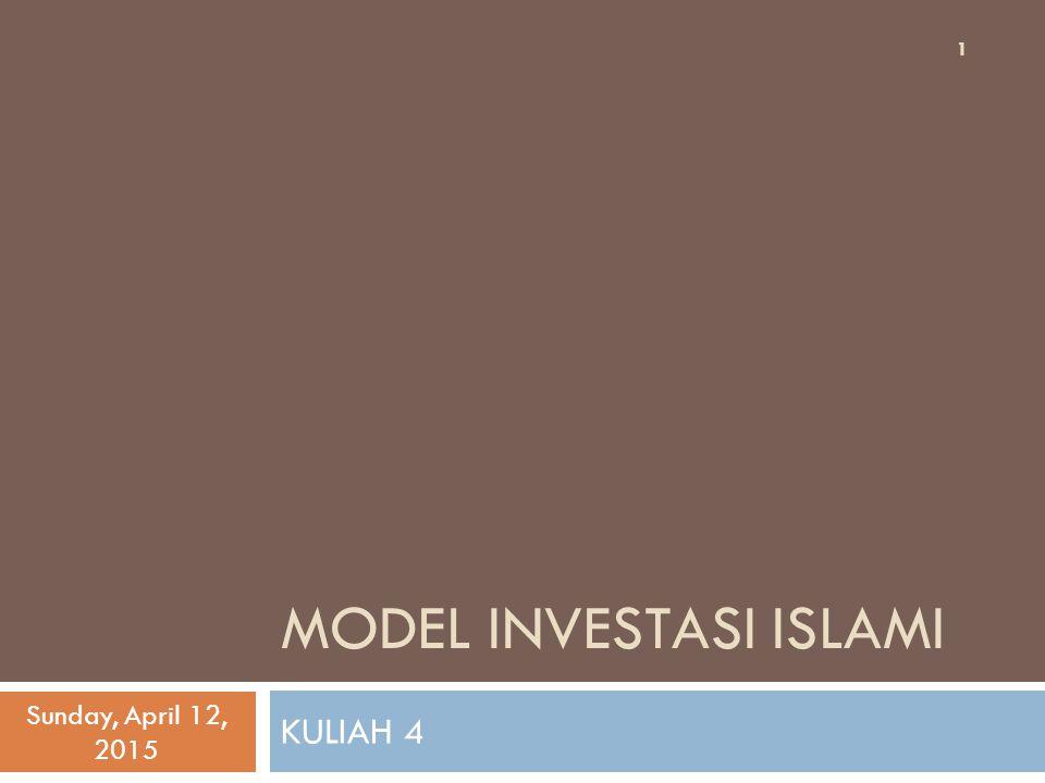MODEL INVESTASI ISLAMI
