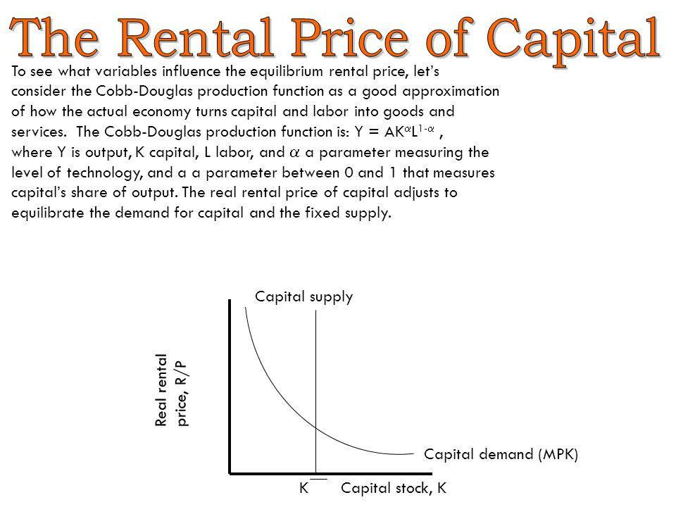 The Rental Price of Capital