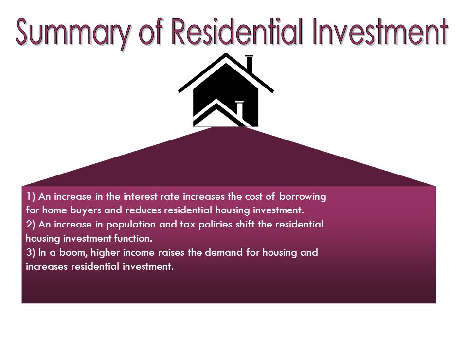 Summary of Residential Investment