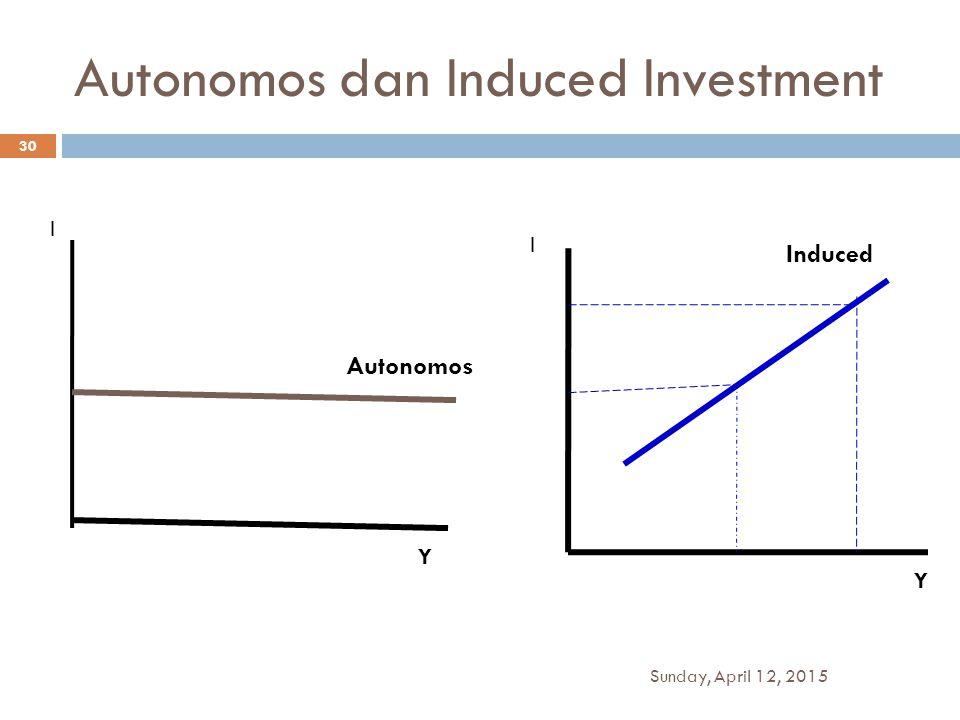 Autonomos dan Induced Investment