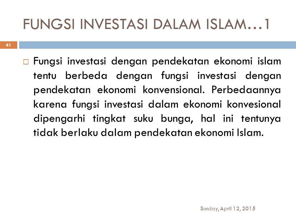 FUNGSI INVESTASI DALAM ISLAM…1