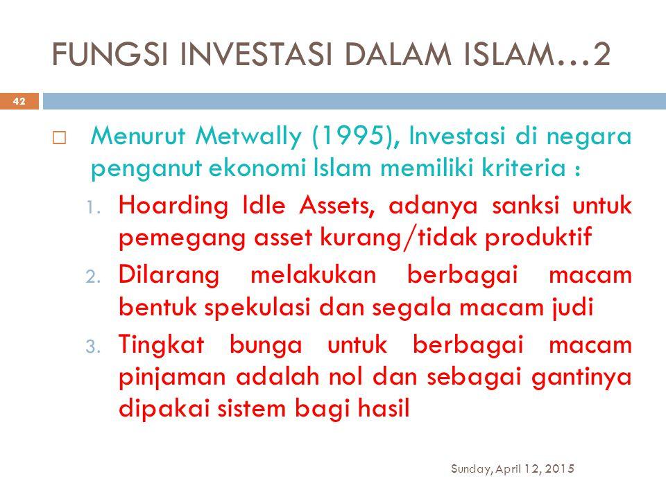 FUNGSI INVESTASI DALAM ISLAM…2