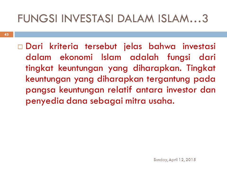 FUNGSI INVESTASI DALAM ISLAM…3