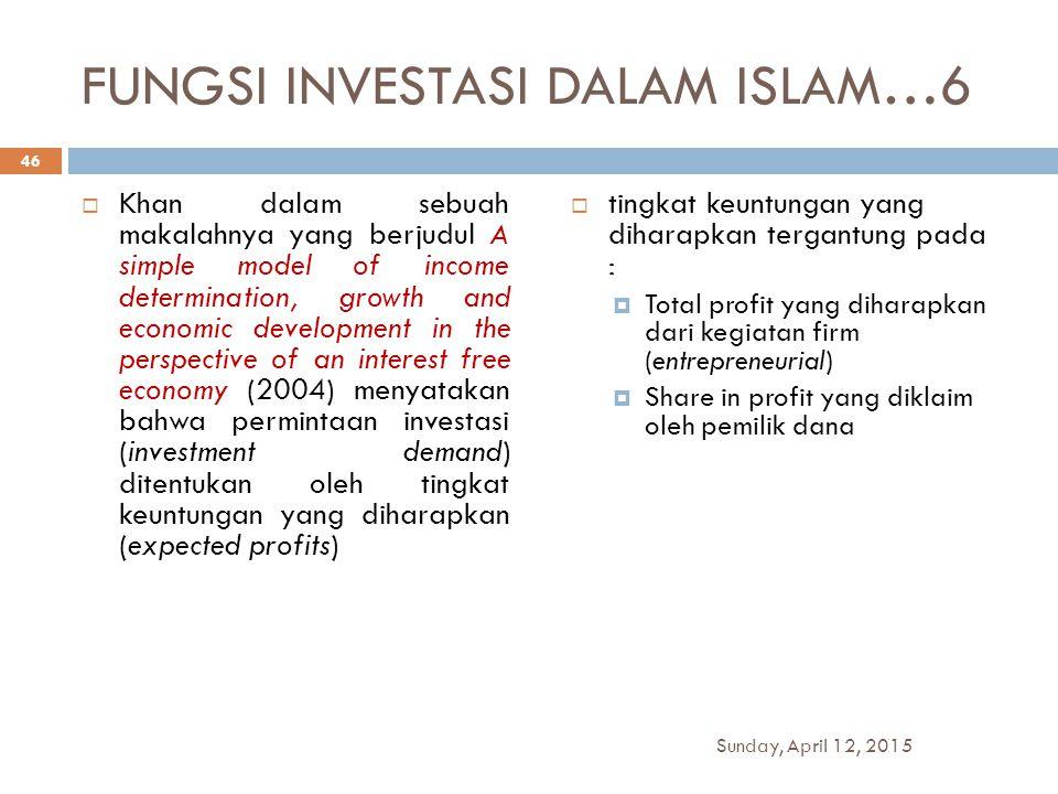 FUNGSI INVESTASI DALAM ISLAM…6