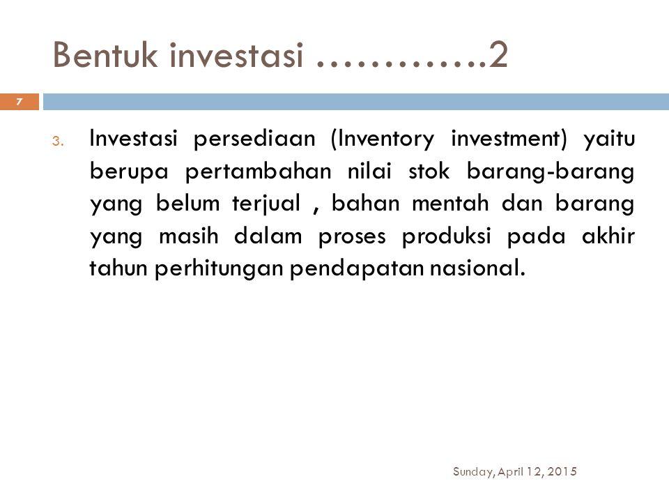 Bentuk investasi ………….2