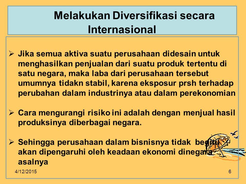Melakukan Diversifikasi secara Internasional