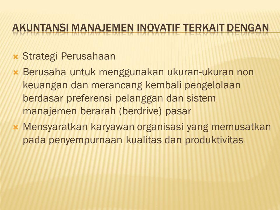 Akuntansi Manajemen Inovatif terkait dengan