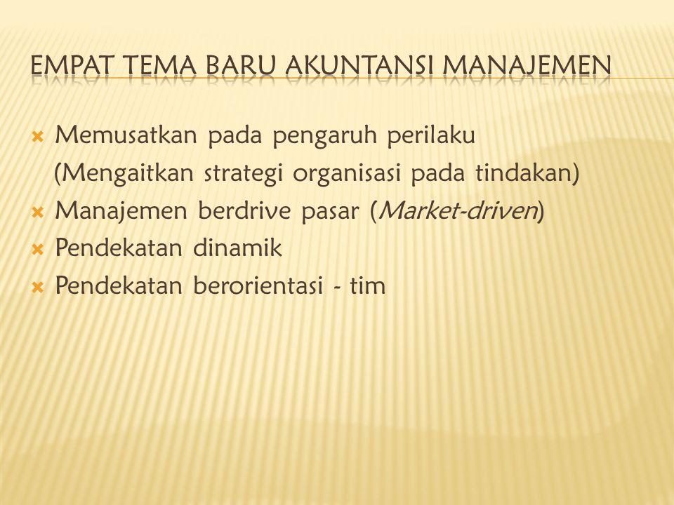 Empat Tema Baru Akuntansi Manajemen