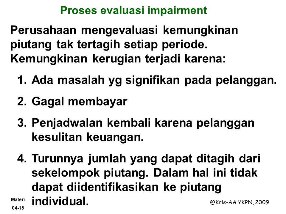 Proses evaluasi impairment