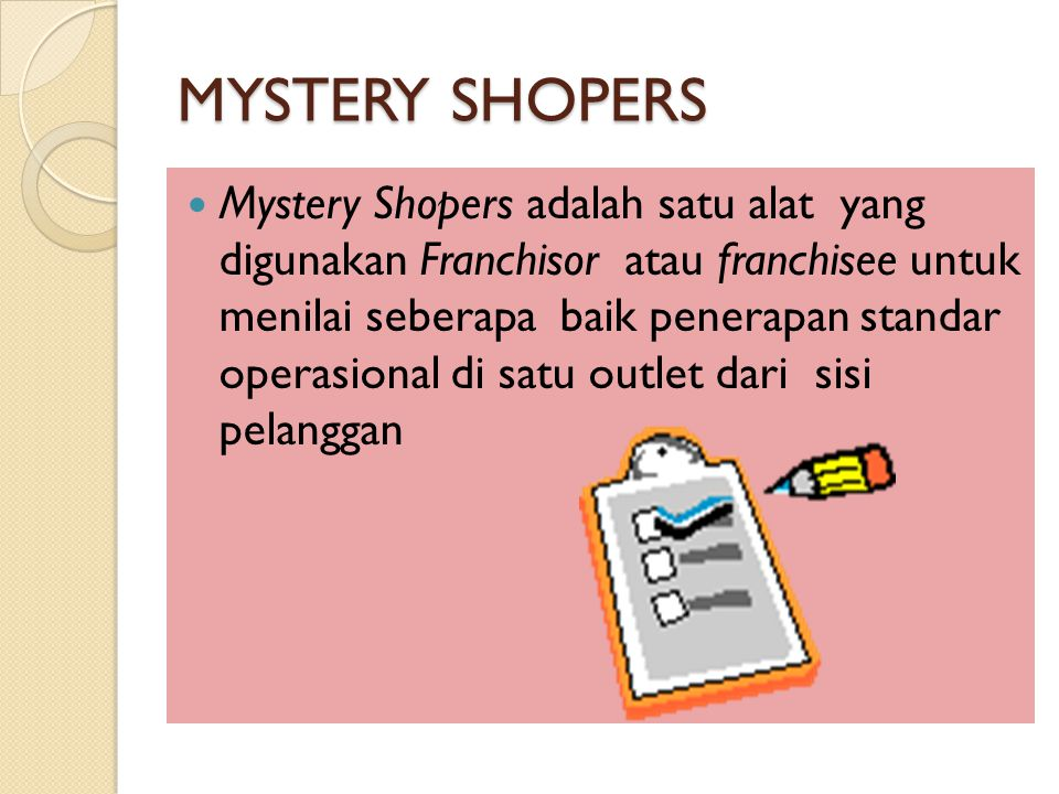 MYSTERY SHOPERS