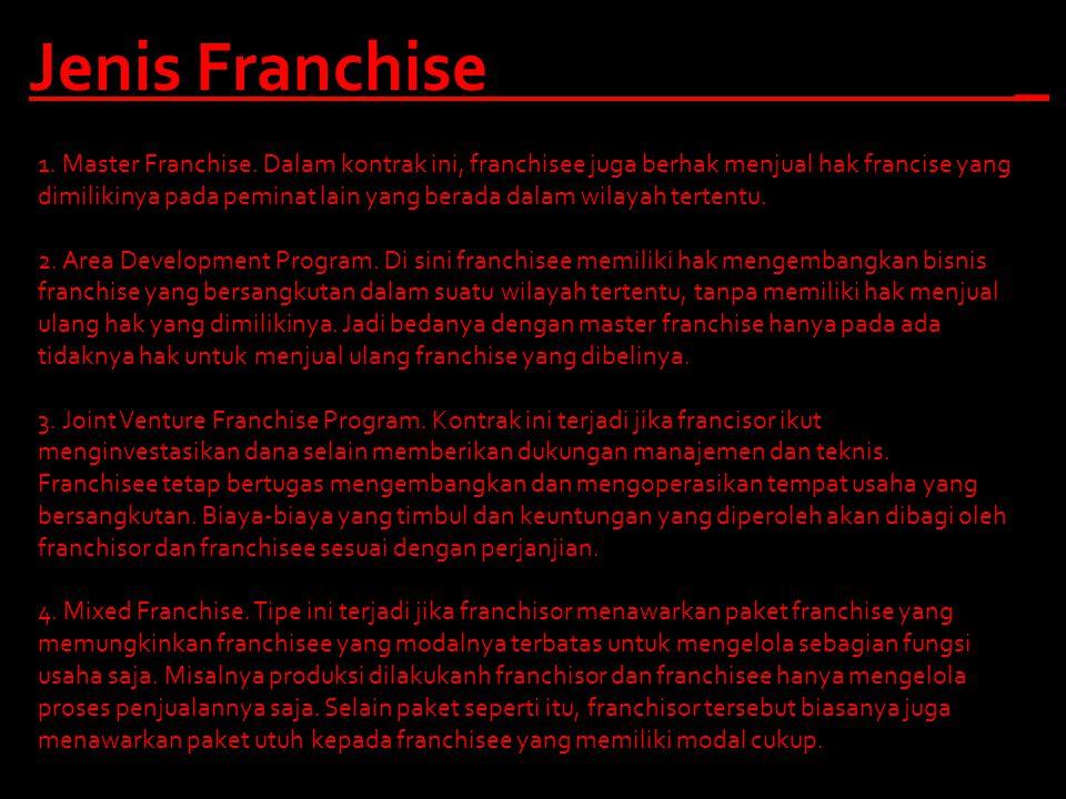 Jenis Franchise _