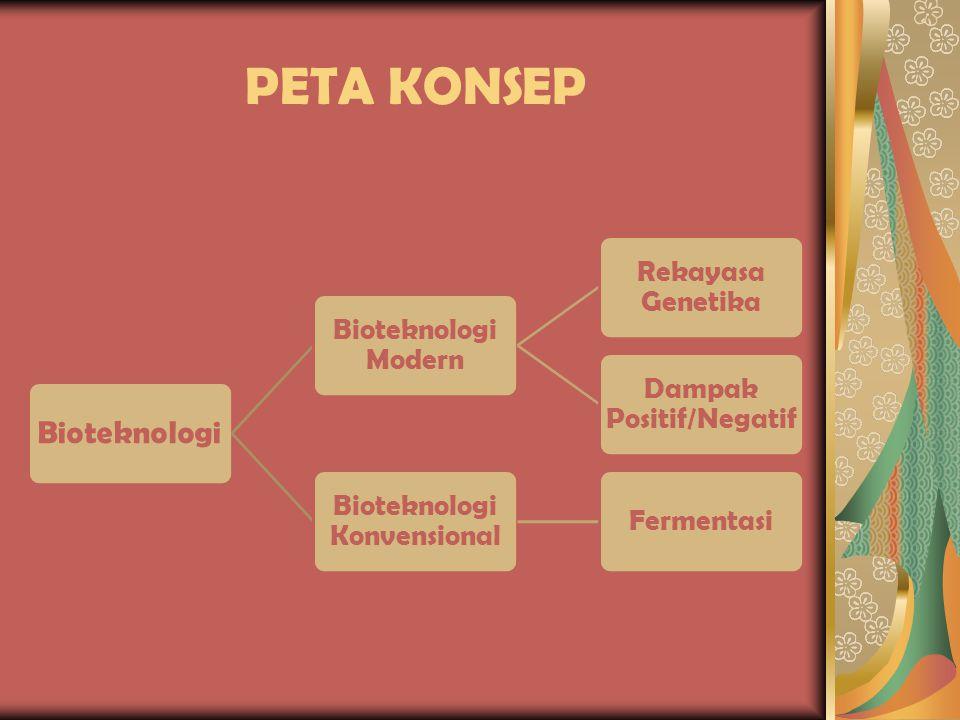 PETA KONSEP Bioteknologi Bioteknologi Modern Rekayasa Genetika
