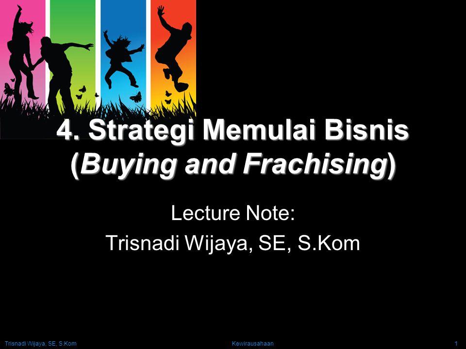4. Strategi Memulai Bisnis (Buying and Frachising)