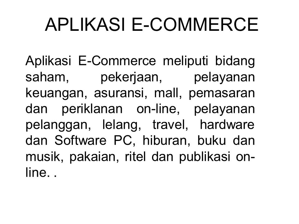 APLIKASI E-COMMERCE