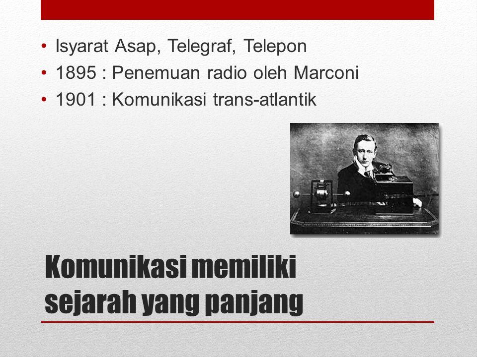 Komunikasi memiliki sejarah yang panjang