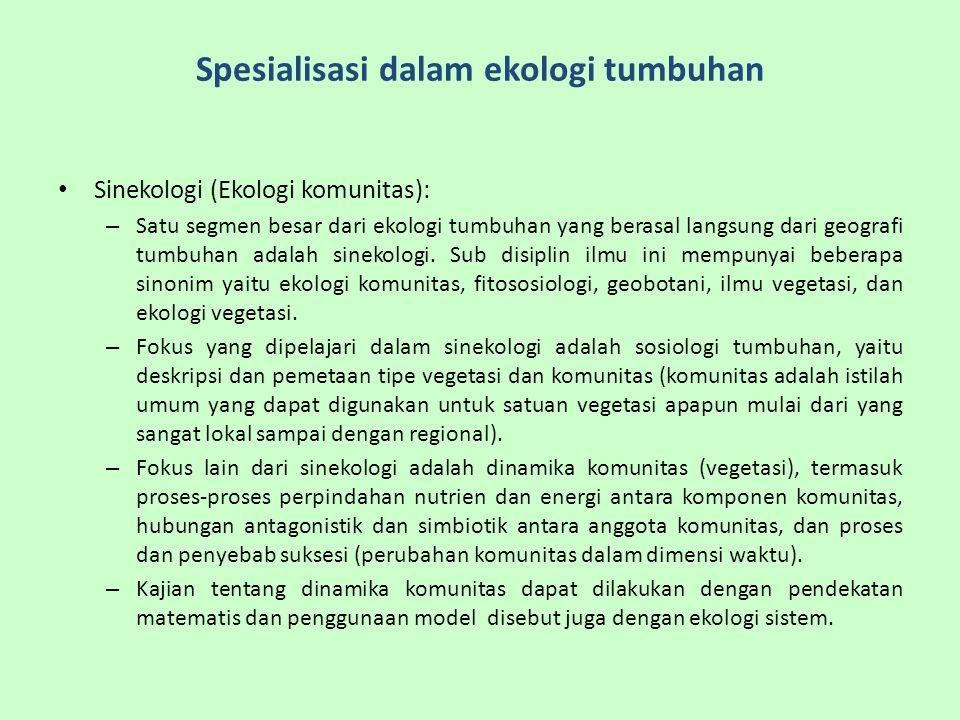 Spesialisasi dalam ekologi tumbuhan