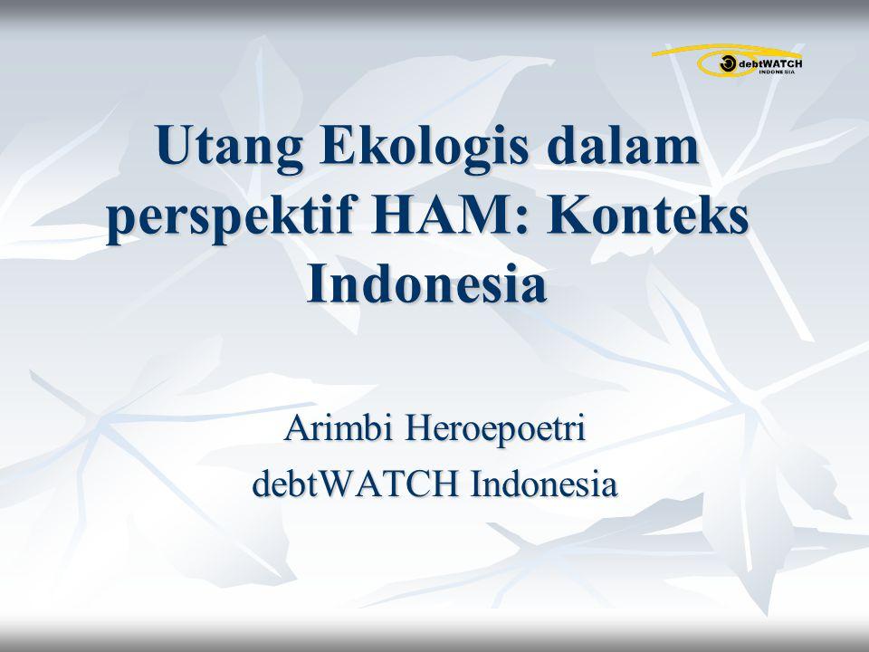Utang Ekologis dalam perspektif HAM: Konteks Indonesia