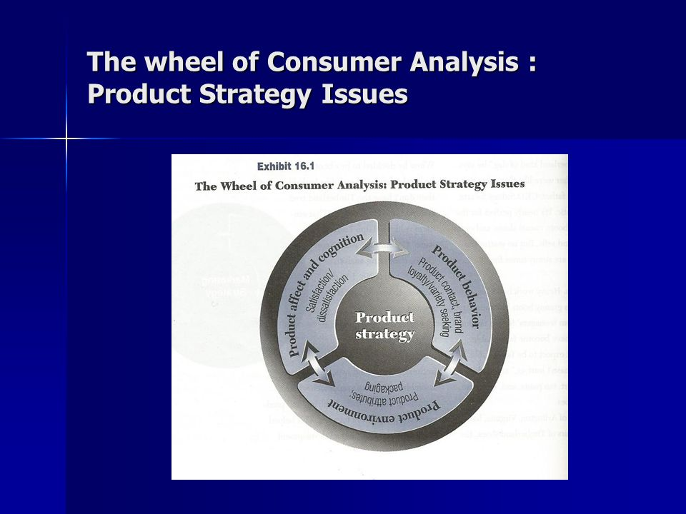 The wheel of Consumer Analysis : Product Strategy Issues