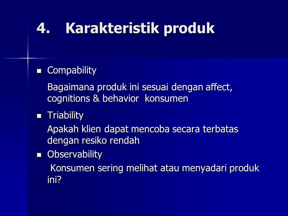 4. Karakteristik produk Compability