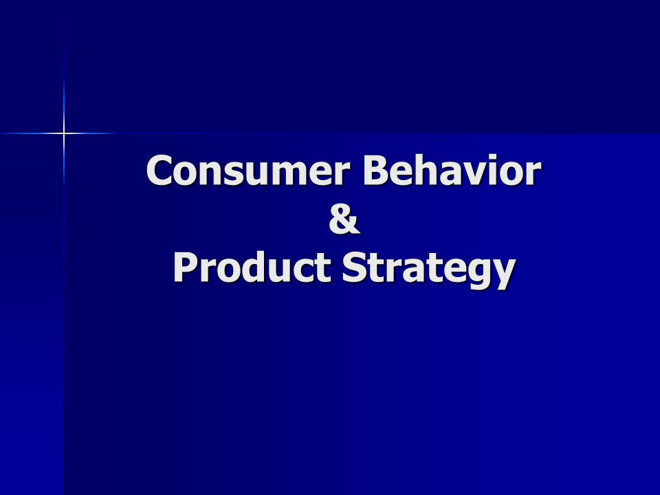 Consumer Behavior & Product Strategy