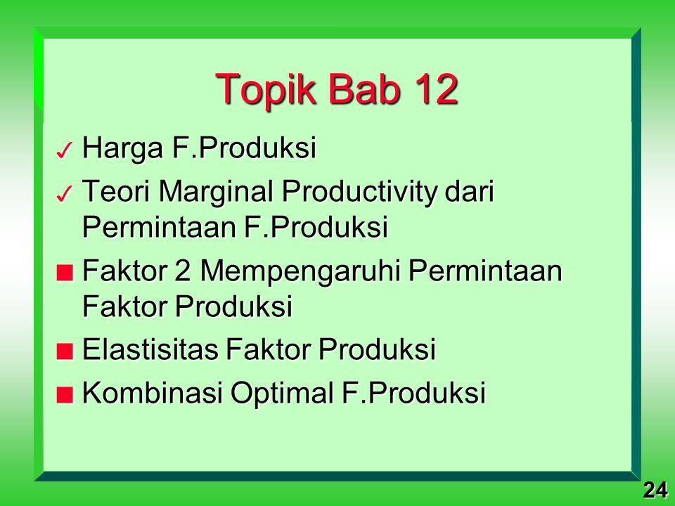 Topik Bab 12 Harga F.Produksi