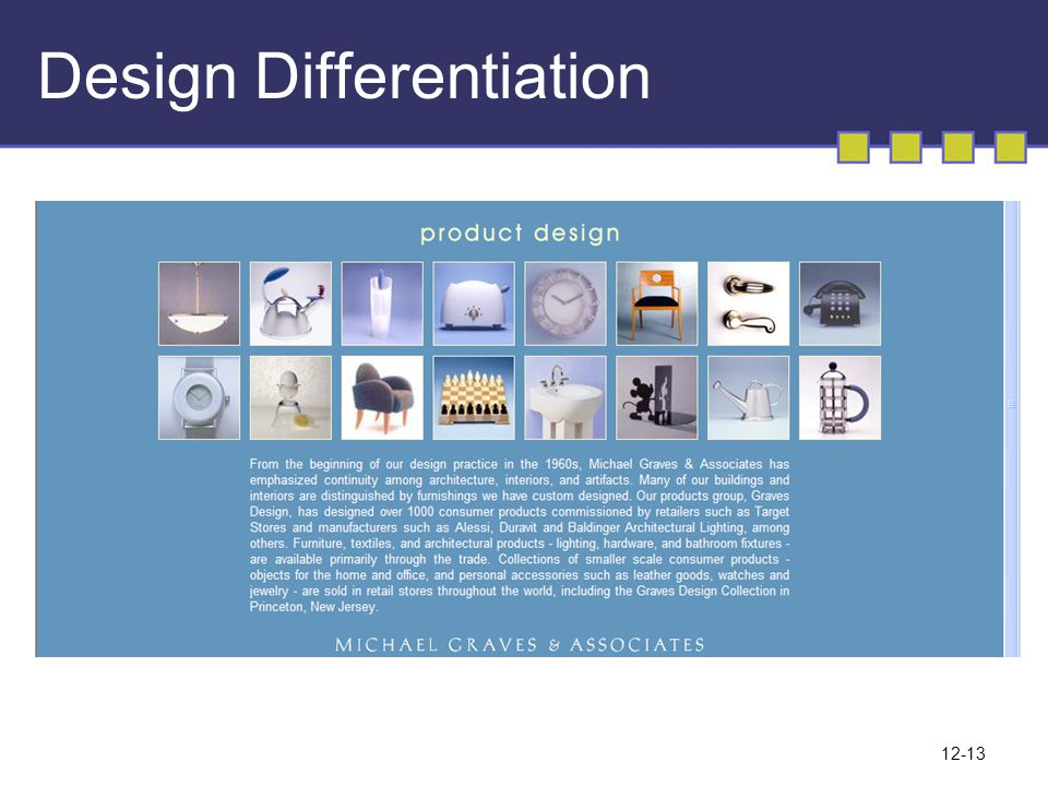 Design Differentiation