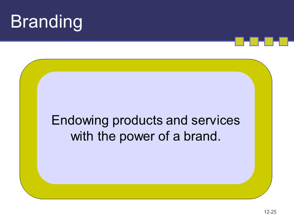 Branding Endowing products and services with the power of a brand.